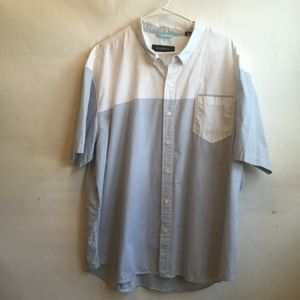 TOMMY BAHAMA CRISP COTTON SHIRT IN BLUE AND WHITE